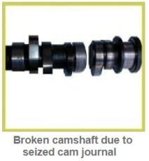 Broken, cracked camshaft diagnostic & causes