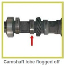 Flogged, worn out camshaft diagnostic & causes